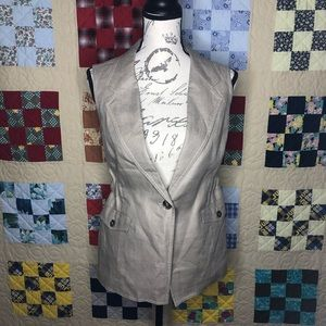 NWT The Limited Linen Utility Vest Size Small